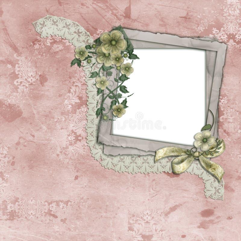 Download Vintage Frame with Flowers stock illustration. Illustration of paper - 10440335