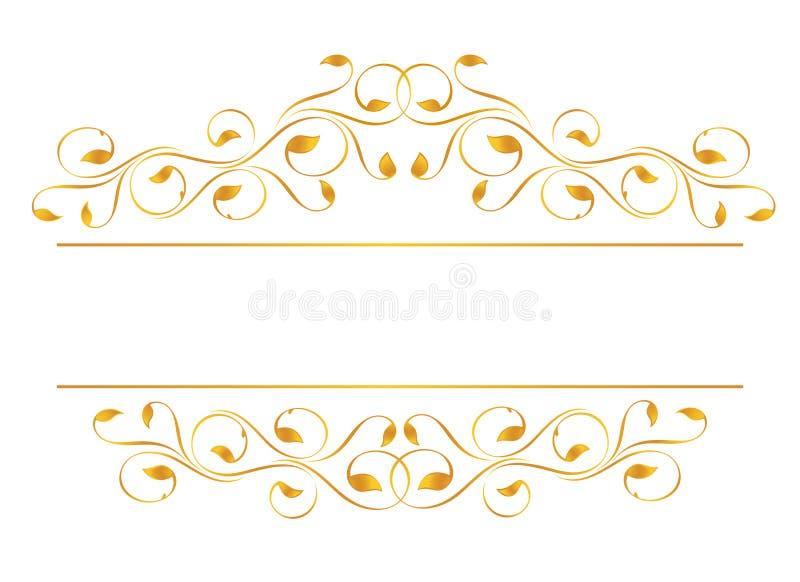 Vintage frame in gold stock illustration
