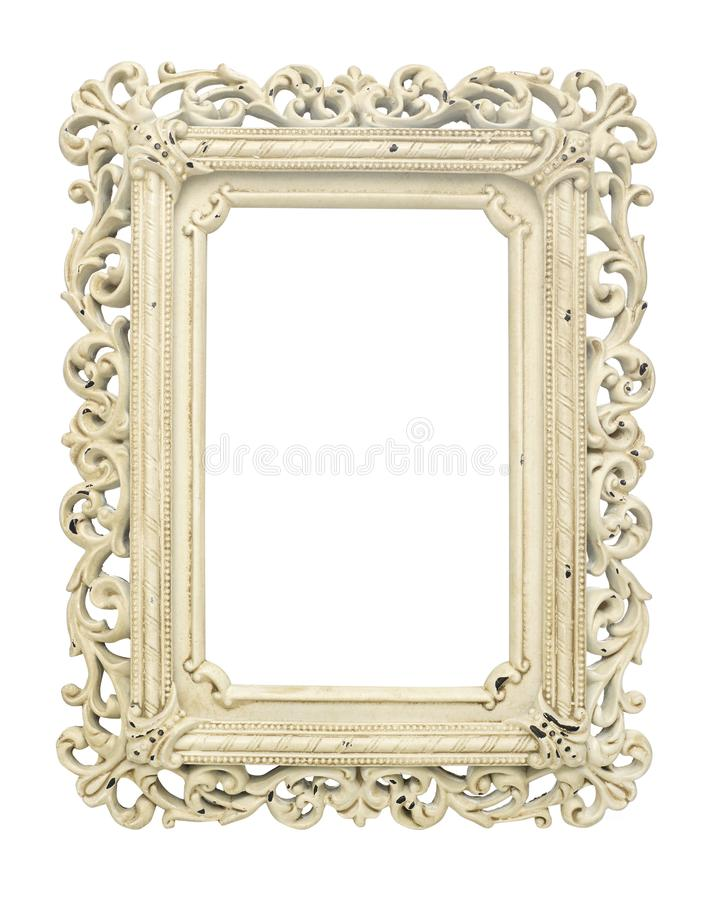Vintage frame on white royalty free stock photos