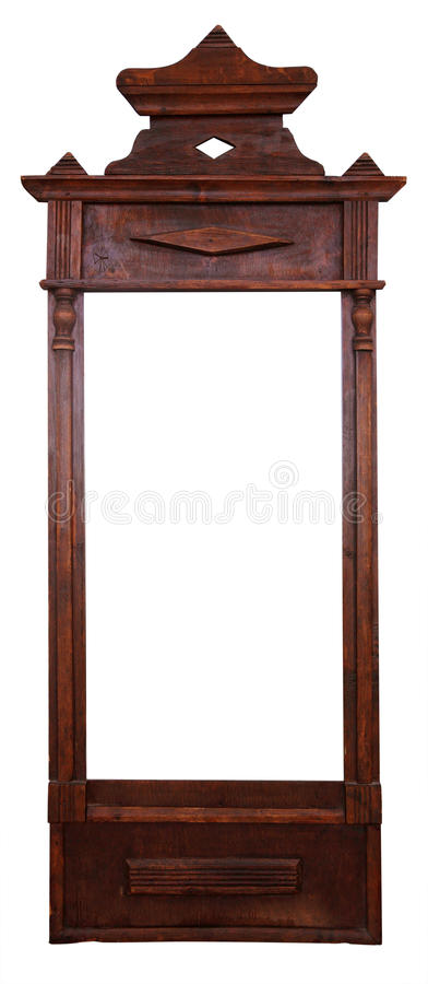 Vintage frame for a mirror. Isolated stock images