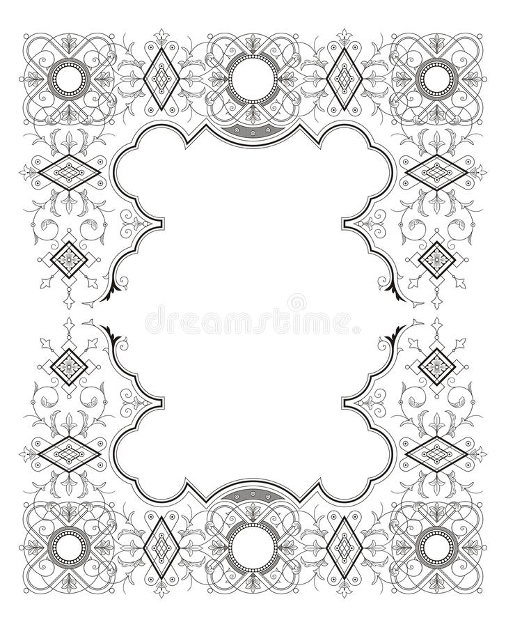 Download Vintage Frame Ornament Stock Vector - Image: 83701375
