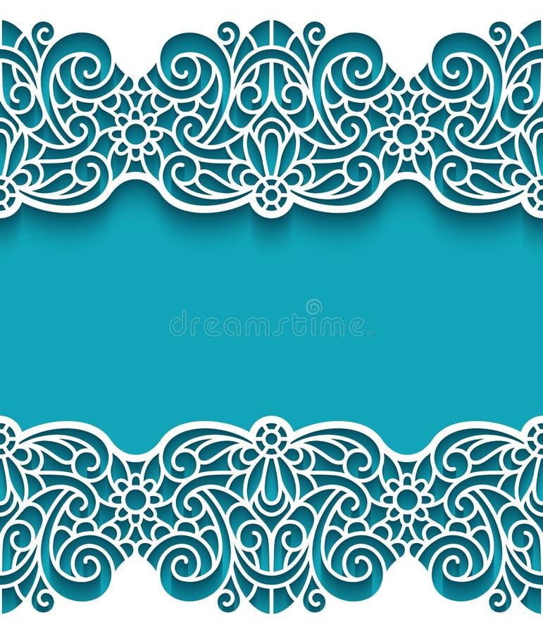 vintage frame with lace borders stock vector illustration of laser rh dreamstime com vintage lace border vector free lace border vector free download