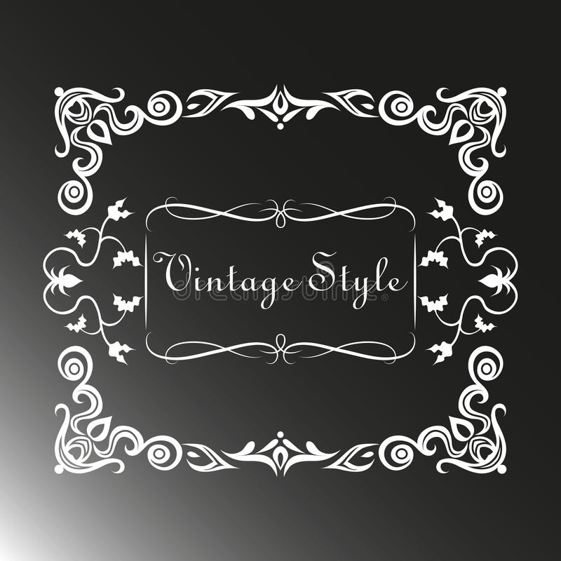 Vintage frame with pattern stock photos