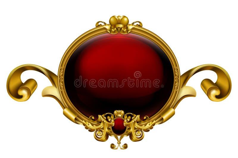 Vintage Frame Red Stock Image