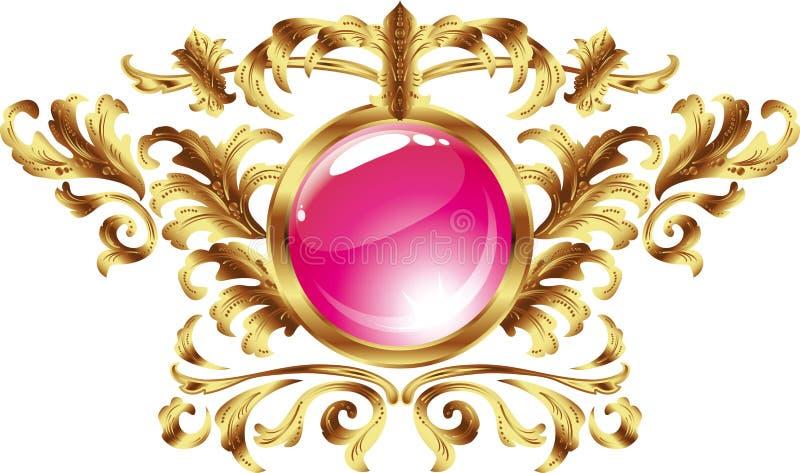 Download Vintage Frame. Round. In A Gold Frame Stock Illustration - Image: 7219869