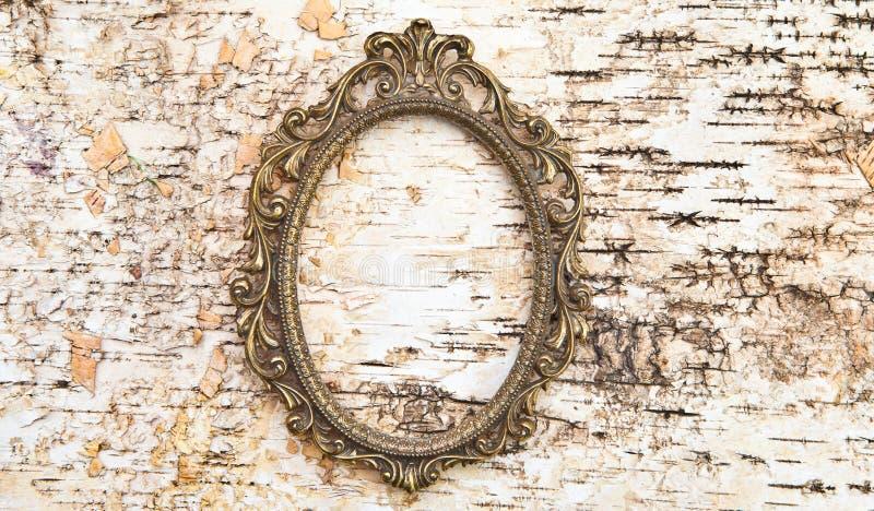 Download Vintage Frame On Rustic Wooden Background Stock Image