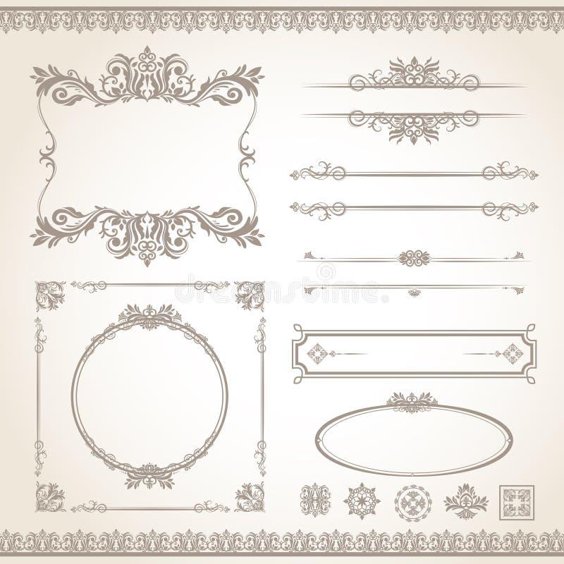 Vintage frame set stock illustration