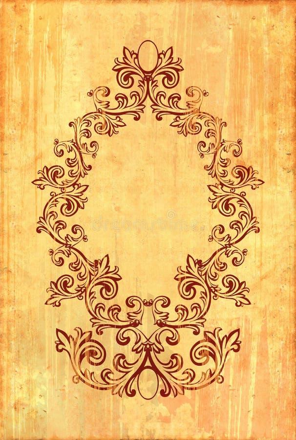 Vintage frame on textured background. Vintage frame on old textured background. Clipping path included royalty free illustration