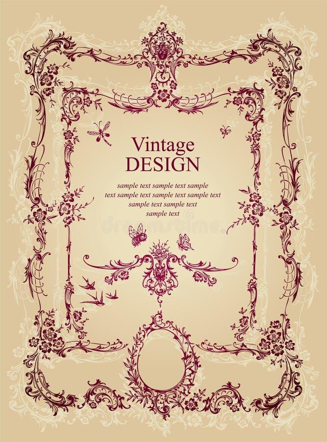 Download Vintage frame (vector) stock vector. Image of baroque - 14655141