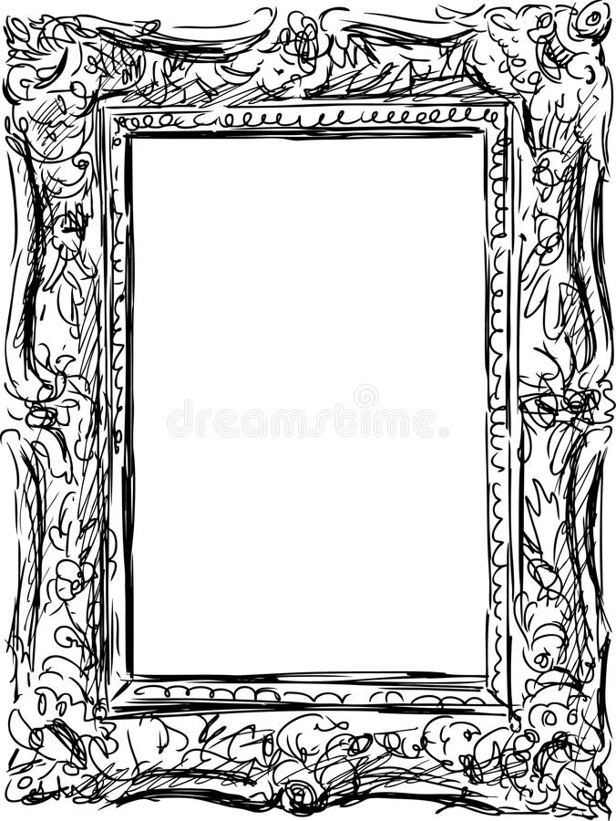 Vintage frame stock vector. Illustration of isolated - 32817852