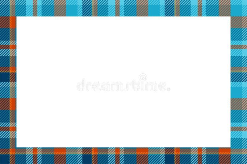 Vintage frame vector. Scottish border pattern retro style. Tartan plaid ornament. vector illustration