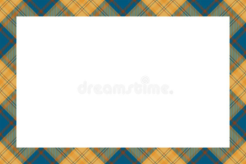 Vintage frame vector. Scottish border pattern retro style. Tartan plaid ornament. royalty free illustration
