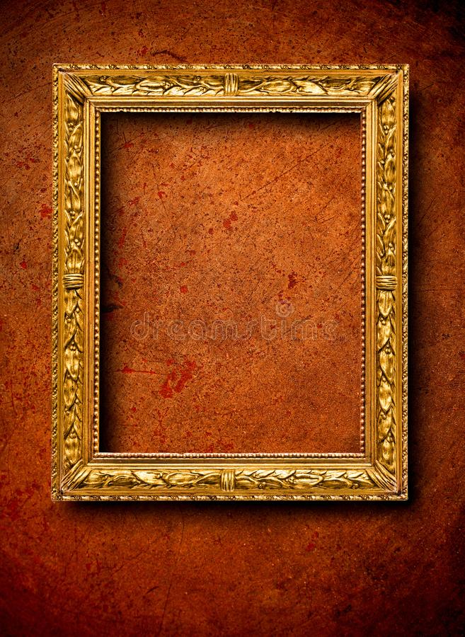Vintage frame on the wall royalty free stock photography