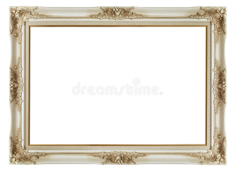 Vintage frame on white background stock photography