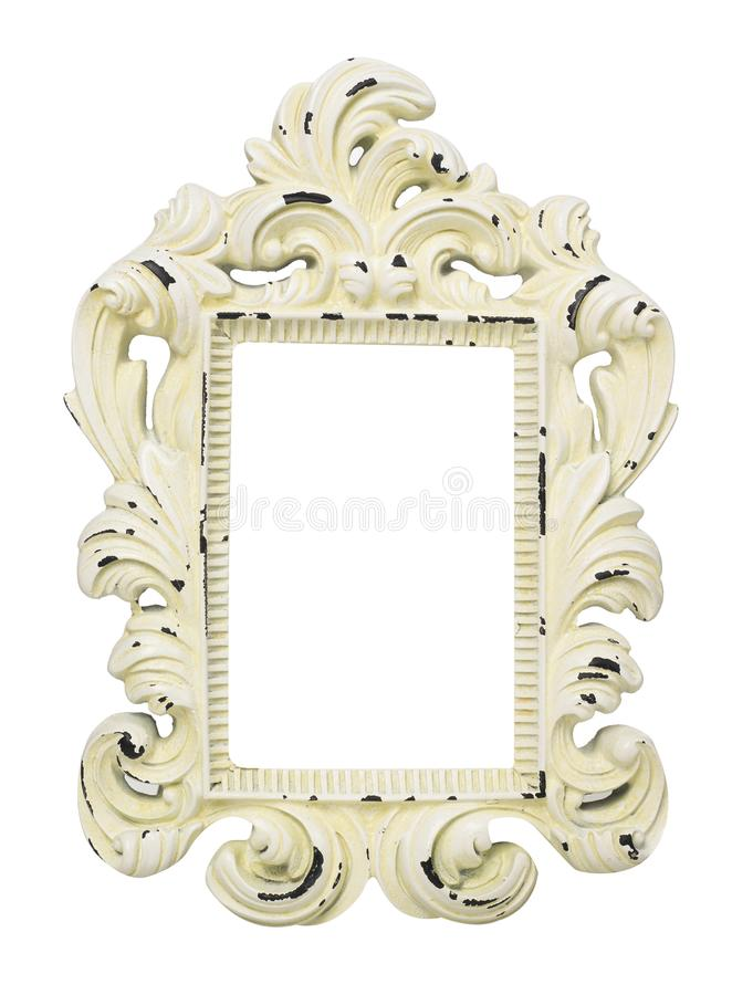 Vintage frame on white royalty free stock photo