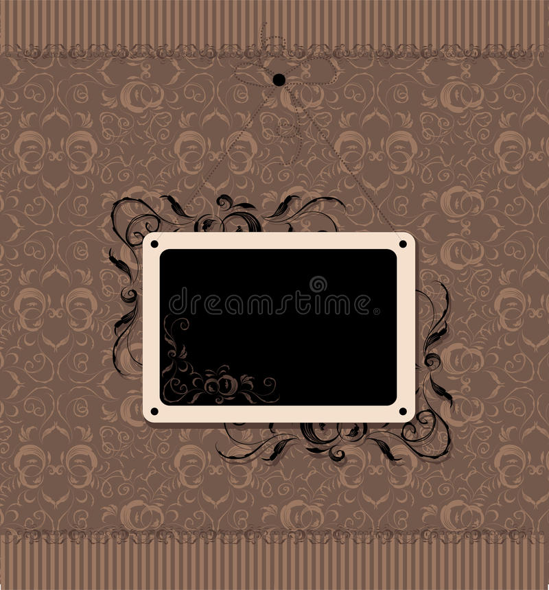 Free Vintage Frame With Seamless Wallpaper Stock Image - 14053921