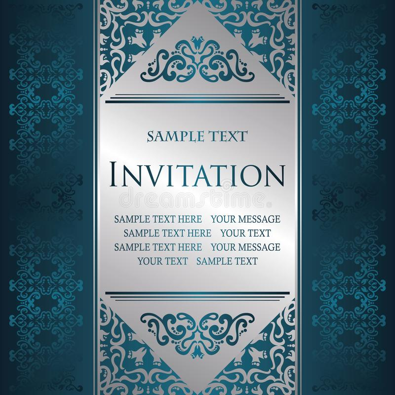 Vintage frame for your invitation card. Retro background with vintage elements and borders vector illustration