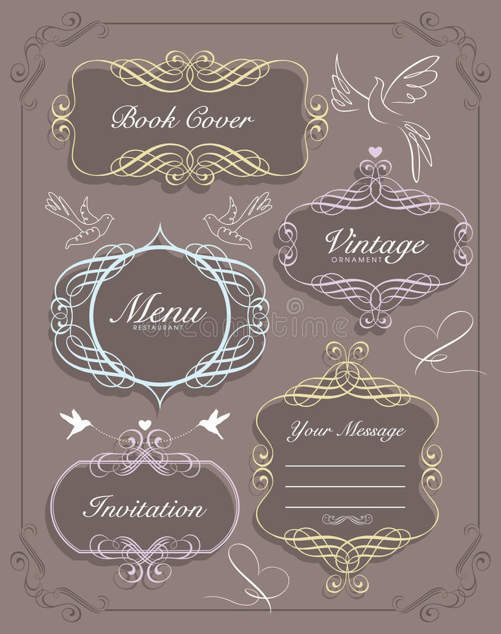 Download Vintage frames stock vector. Image of curve, beautiful - 19938767