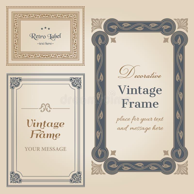 Vintage Frames Stock Vector Illustration Of Beauty