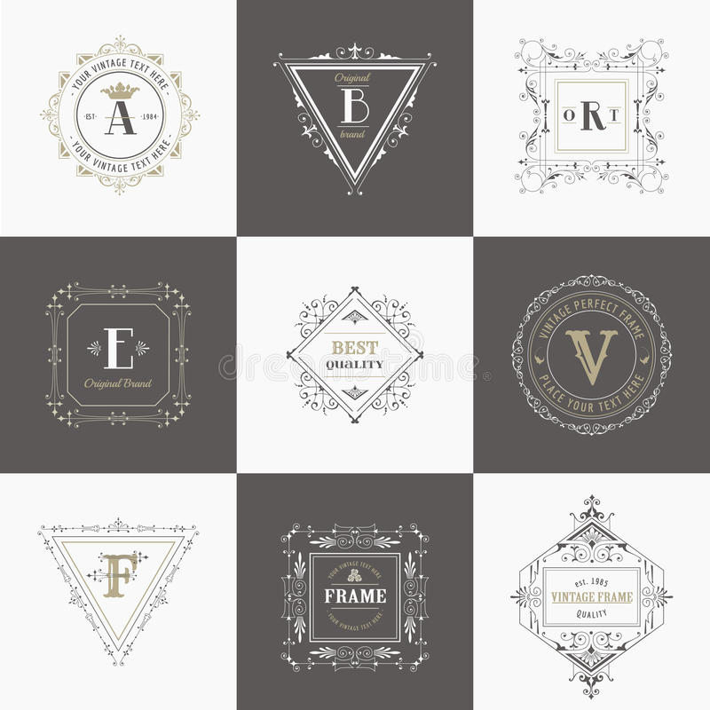 Vintage Frames and Banners royalty free illustration