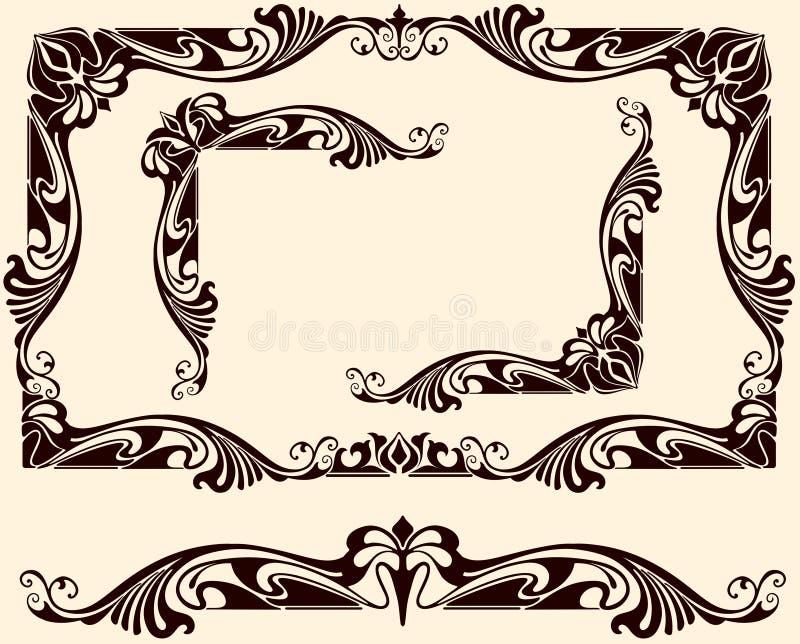vintage frames corners stock vector illustration of sticker 41989085. Black Bedroom Furniture Sets. Home Design Ideas