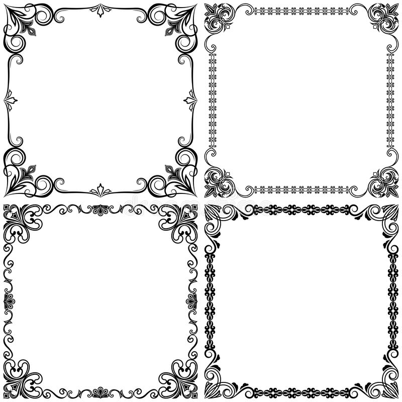 Download Vintage Frames Design Stock Vector Illustration Of Menu