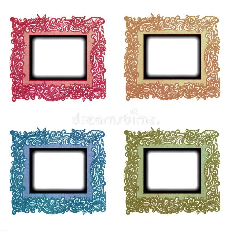 Download Vintage Frames Set stock illustration. Image of colors - 16443129