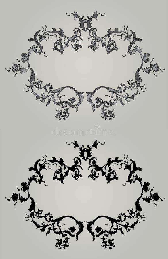 Download Vintage Frames In Two Variants Stock Vector - Image: 12829125