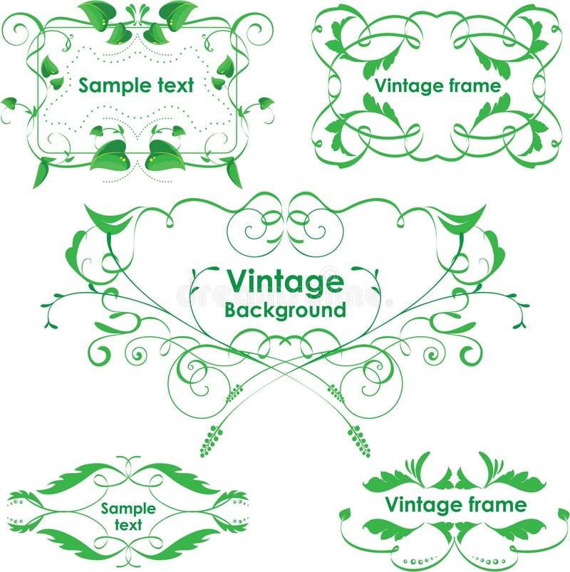 Download Leaves Frame - Set. Vector Design Elements. Eco Gr Stock Vector - Image: 24718771