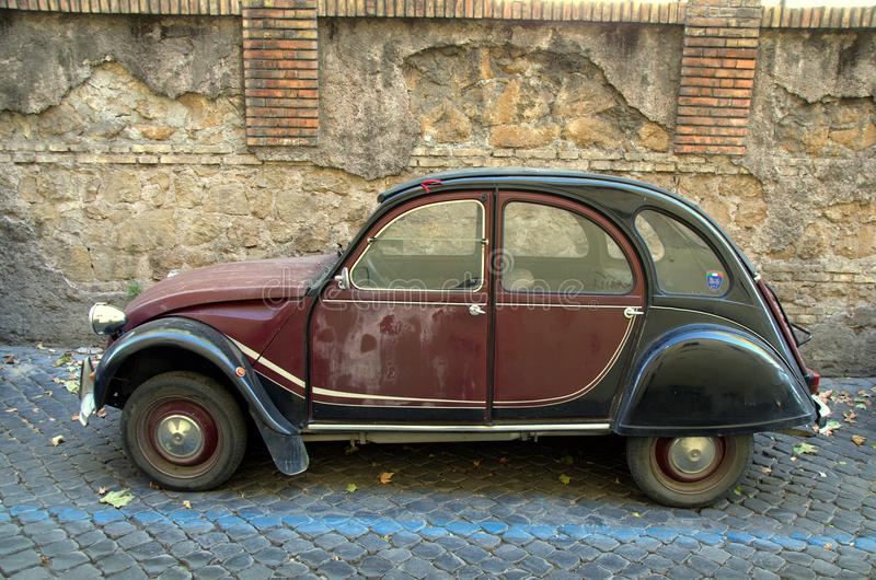 Vintage French car Citroen 2CV Charleston royalty free stock images