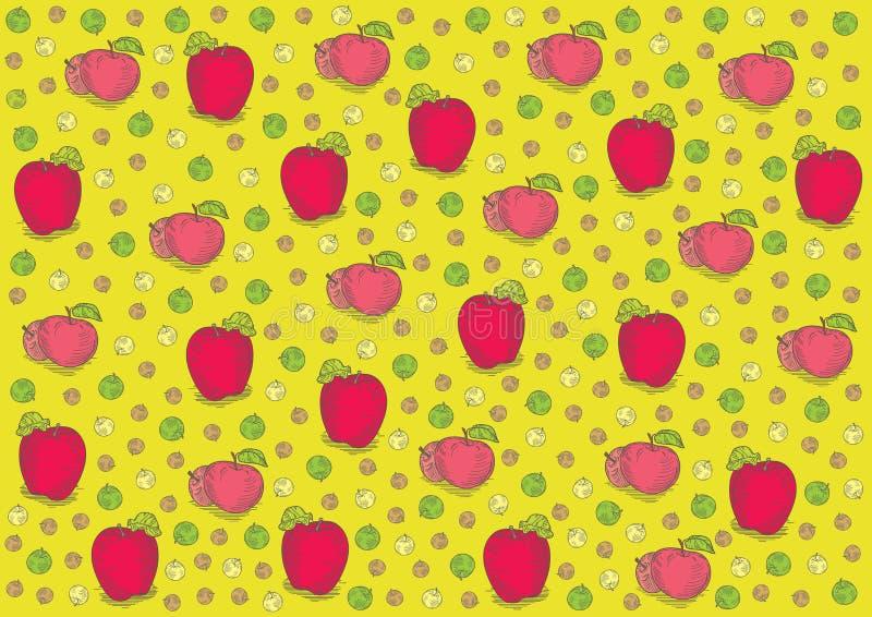Download Vintage Fresh Apples Pattern Stock Vector - Image: 34828485
