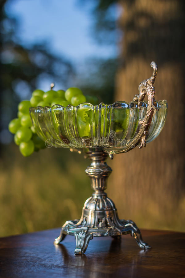 Vintage fruit bowl stock photography