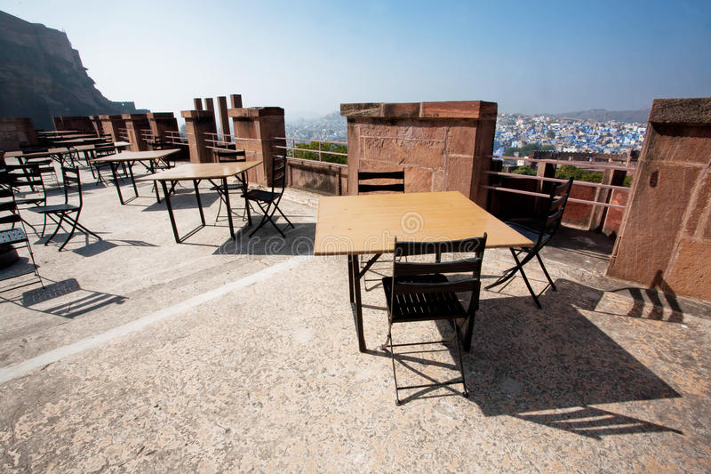 Download Vintage Furniture In Rooftop Cafe Under The Fort Stock Photo    Image: 50934499