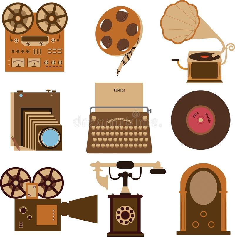 Vintage gadgets stock illustration