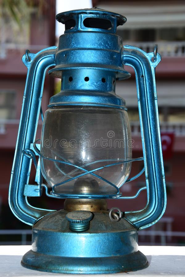 Vintage gas lamp stock photography