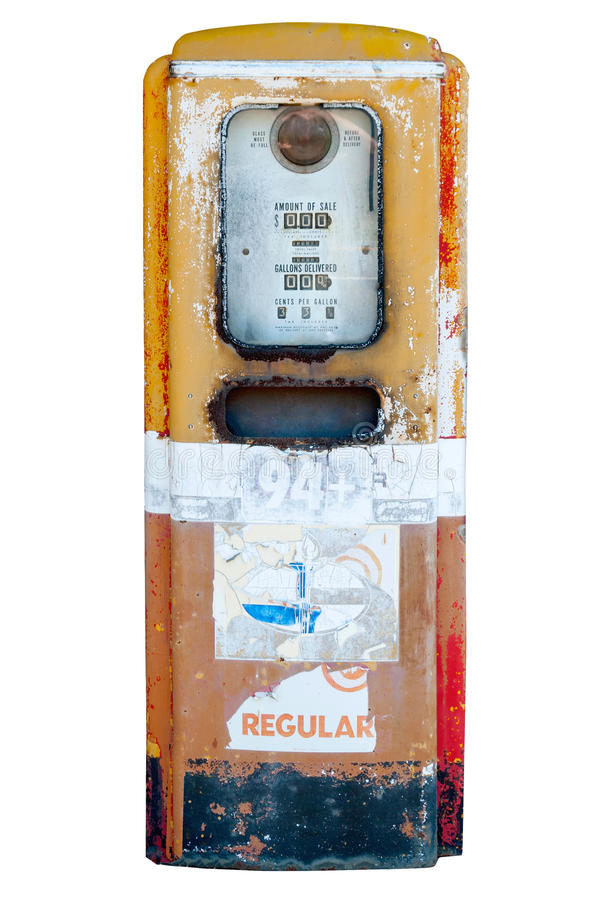 Vintage gasoline pump III stock images