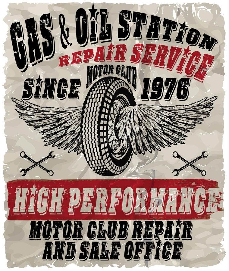 Vintage gasoline retro signs and labels. Gas station. vector illustration