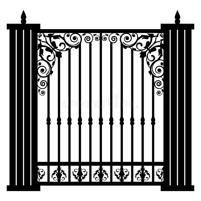 Vintage gate. Vector illustration of vintage gate vector illustration