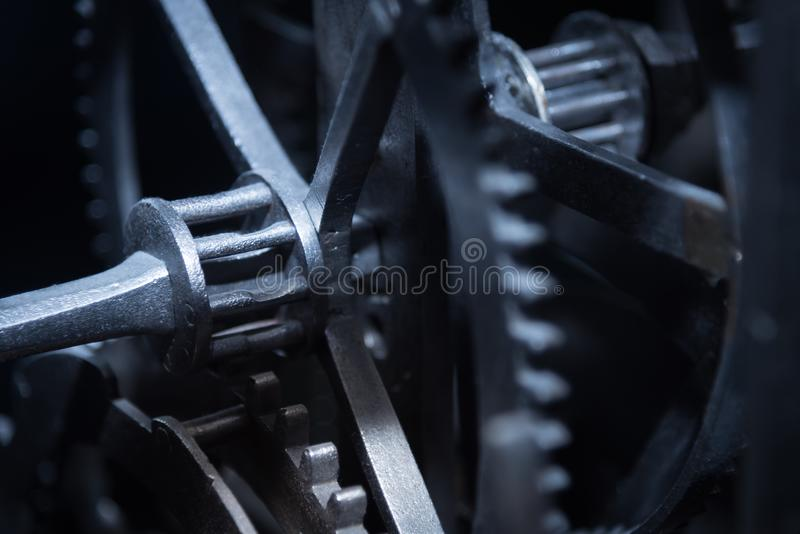 Vintage gears and cogs royalty free stock images