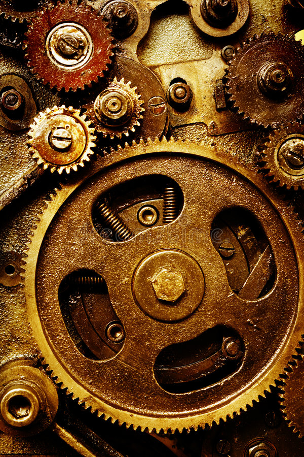 Download Vintage gears mechanism stock image. Image of round, retro - 5363547