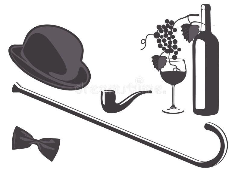 Download Vintage gentleman set stock vector. Image of fashion - 27382047