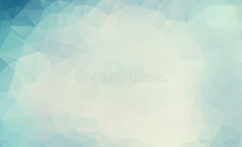 Vintage geométrico abstrato/fundo pastel/moderno de polígono triangulares Ilustração do vetor Tre brilhante do triângulo retro do ilustração royalty free