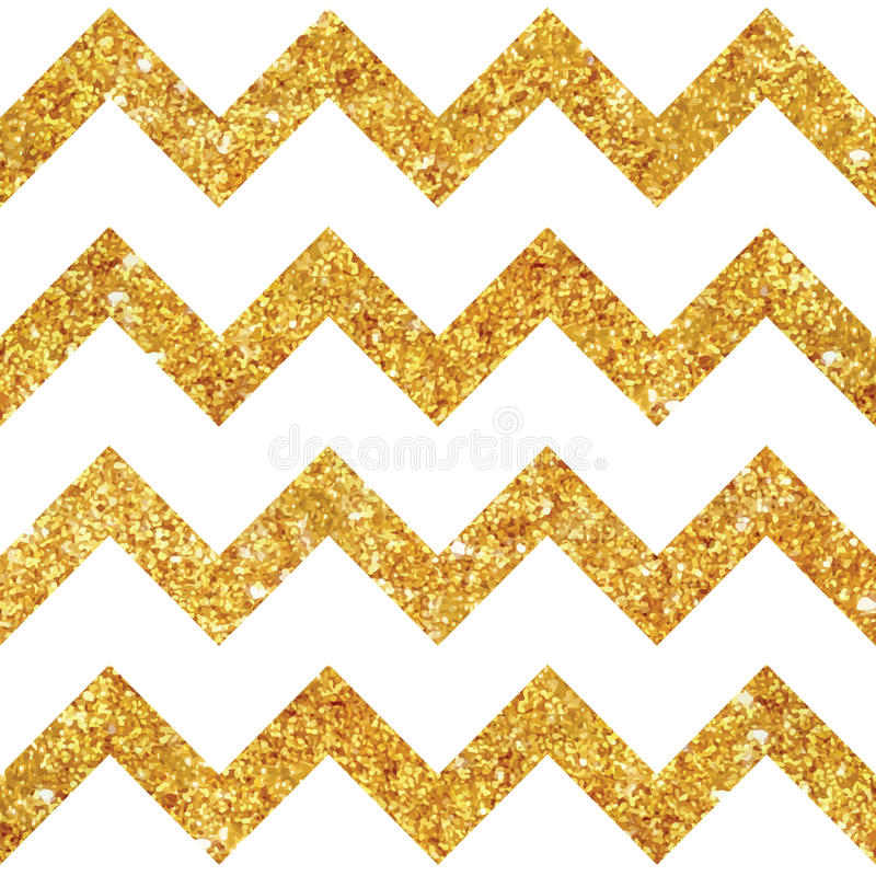 Vintage Geometric Glittery Gold Background. Seamless Pattern - in vector stock illustration