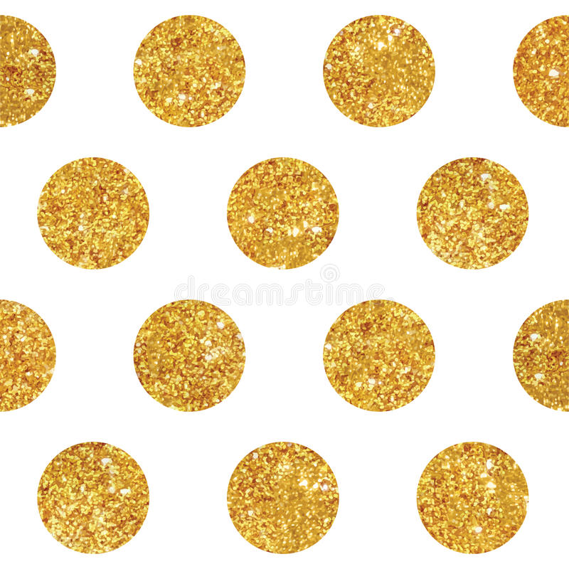 Vintage Geometric Glittery Gold Background. Seamless Pattern - in vector royalty free illustration