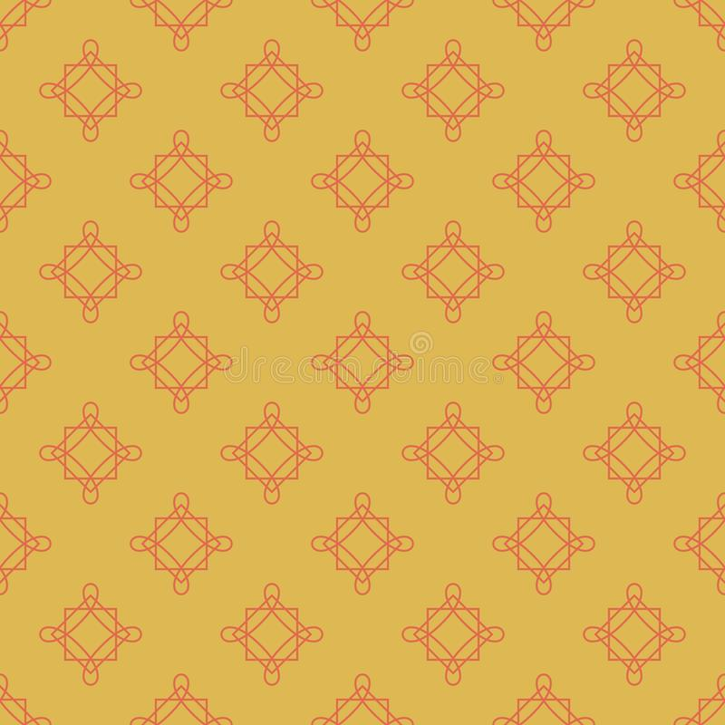 Free Vintage Geometric Pattern. Seamless Vector Background. Yellow Ornament. Ornament For Fabric, Wallpaper, Packaging Royalty Free Stock Images - 163636699
