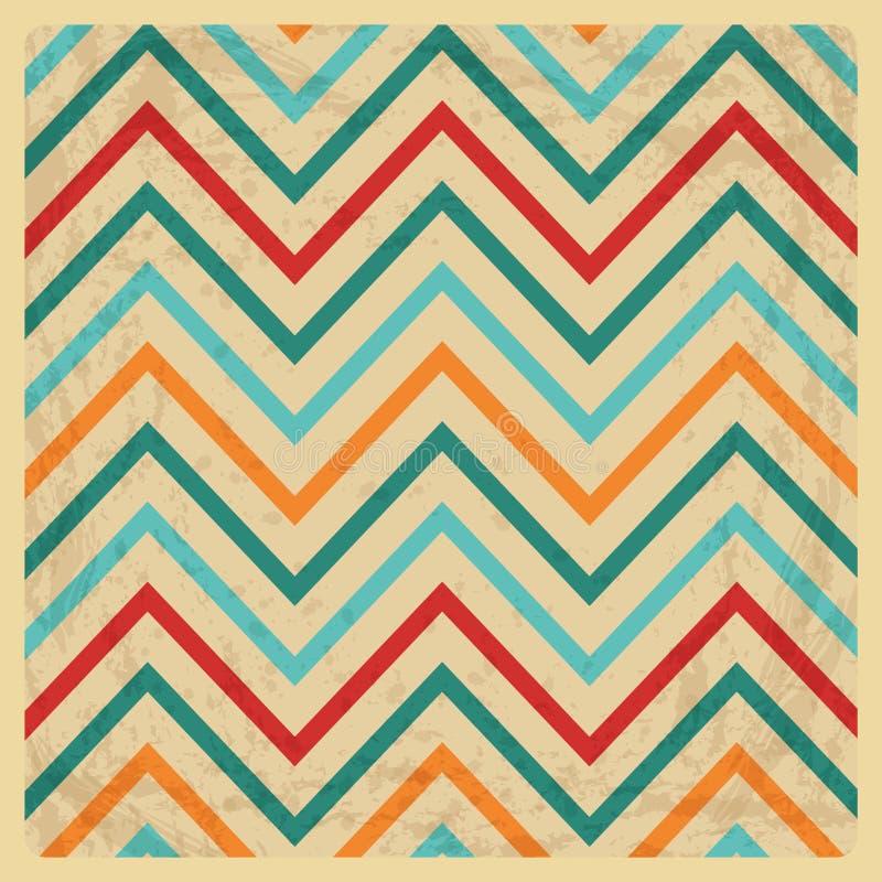 Vintage Geometric Zigzag Background vector illustration