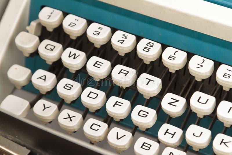 Vintage German typewriter keys royalty free stock image