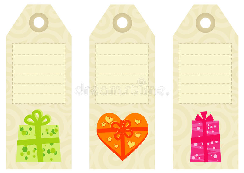 Vintage Gift Tags royalty free stock images