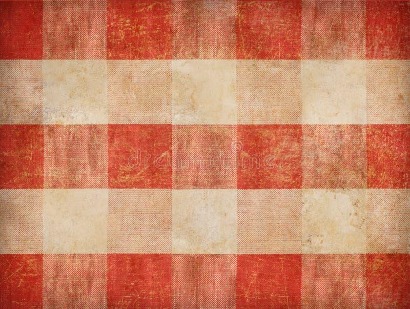 Vintage gingham tablecloth background. Vintage red gingham tablecloth background stock images