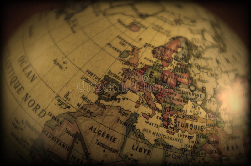 Download Vintage globe stock photo. Image of exploration, geography - 9623298